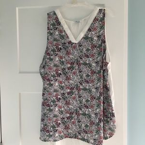 Reitmans White and Floral Tank 3X